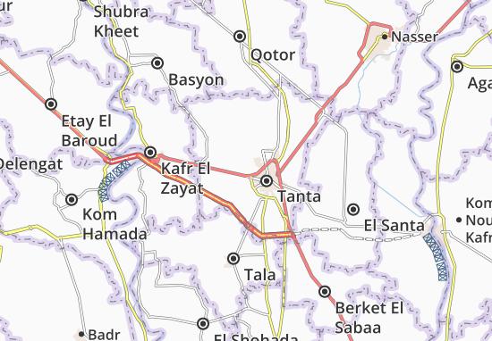 Kaart Plattegrond Mahalet Marhoum and Hesetha