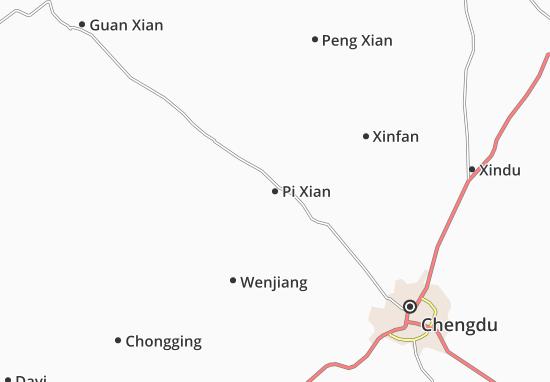 Carte-Plan Pi Xian