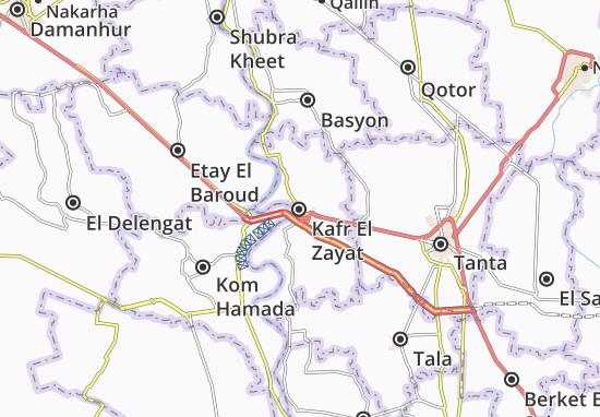 Mappe-Piantine Kafr El Zayat