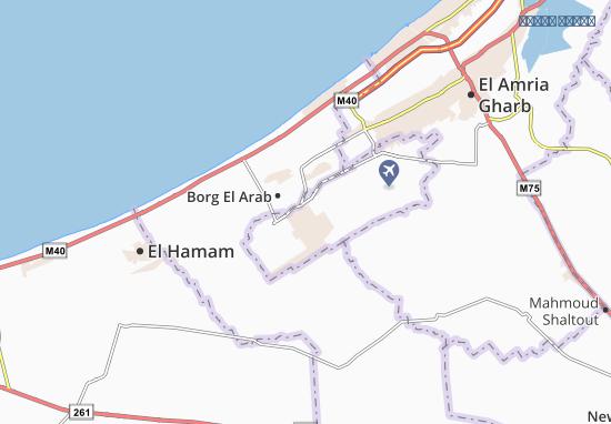 New Borg El Arab Map