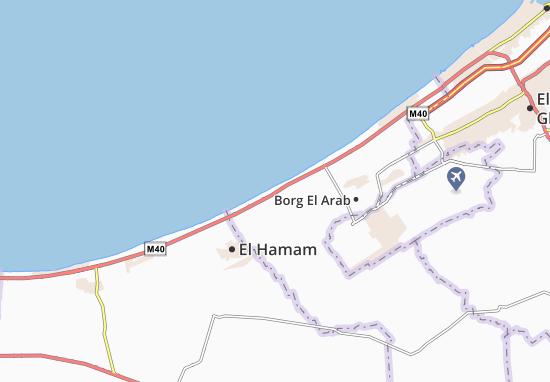Carte-Plan Alamein Village