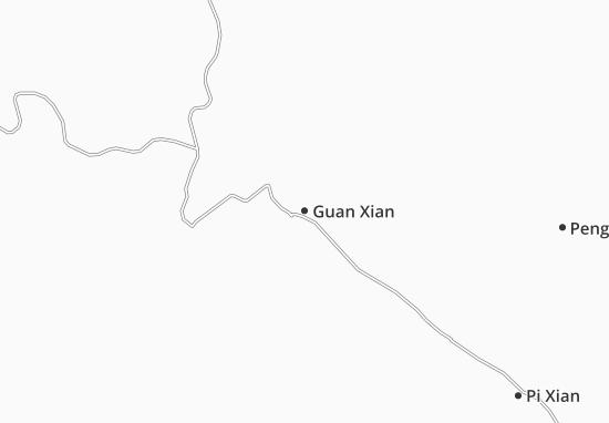 Kaart Plattegrond Guan Xian