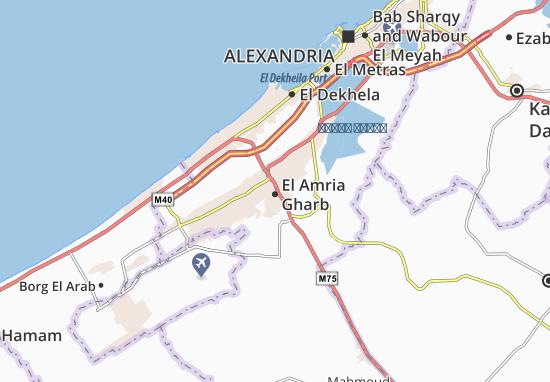 Mapa El Amria Gharb