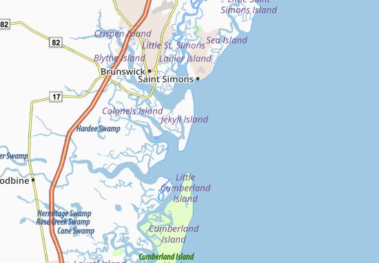Map Of Jekyll Island Michelin Jekyll Island Map ViaMichelin - Georgia map jekyll island