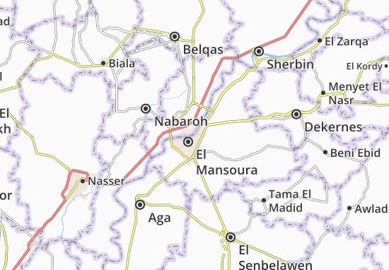 Kaart Plattegrond Qesm El Mansoura