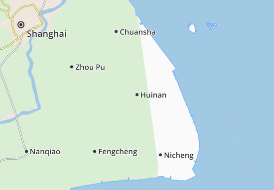 Map Of Huinan Michelin Huinan Map ViaMichelin - Fengcheng map