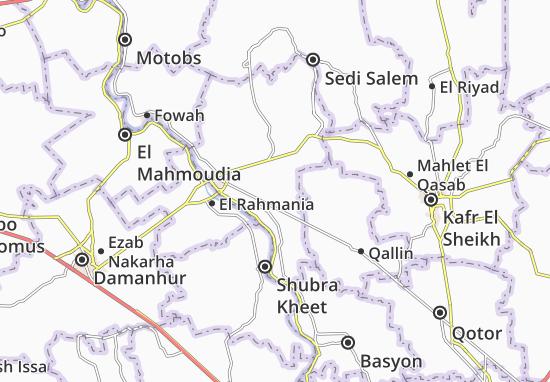 Kaart Plattegrond Sanhour El Madinah