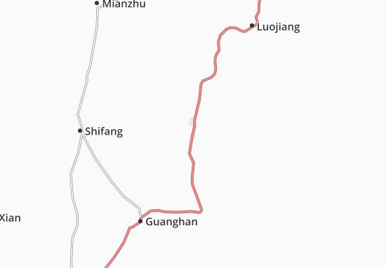 Deyang Map