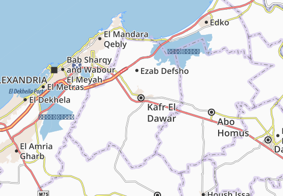 Kafr El Dawar Map