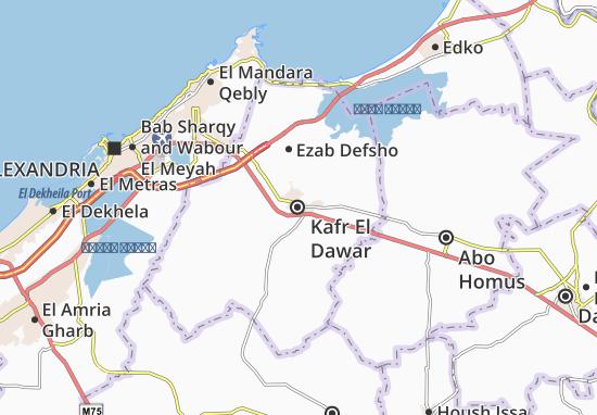 Mapa Kafr El Dawar