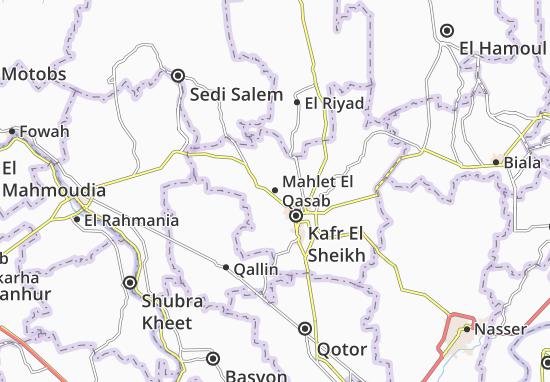 Mapa Mahlet El Qasab