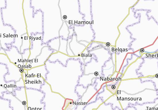 Kaart Plattegrond Biala