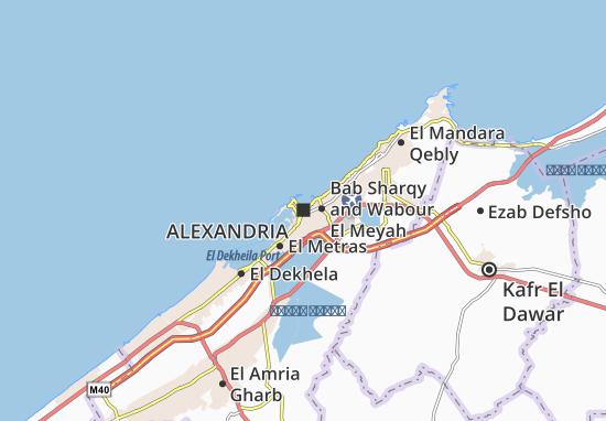 Mapa Alexandria