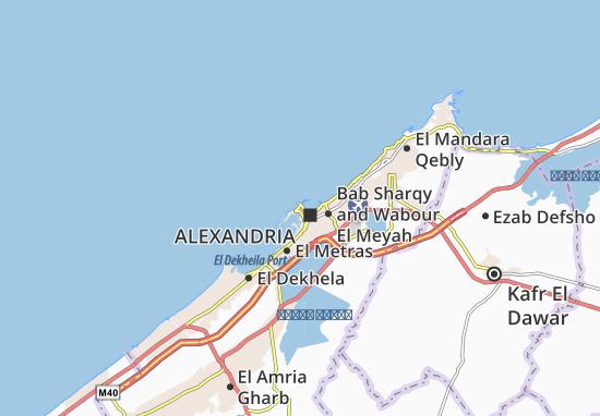 Kaart Plattegrond El Berka