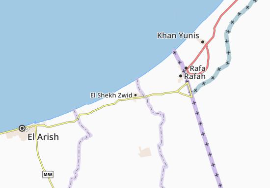 El Shekh Zwid Map