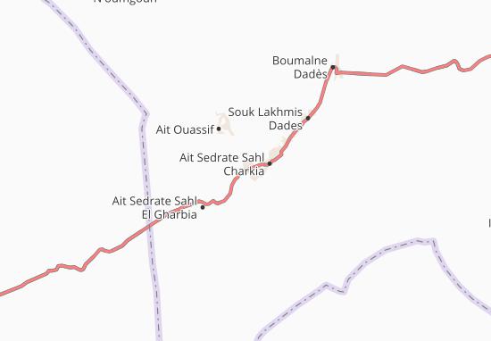 Carte-Plan Kalaat M'gouna