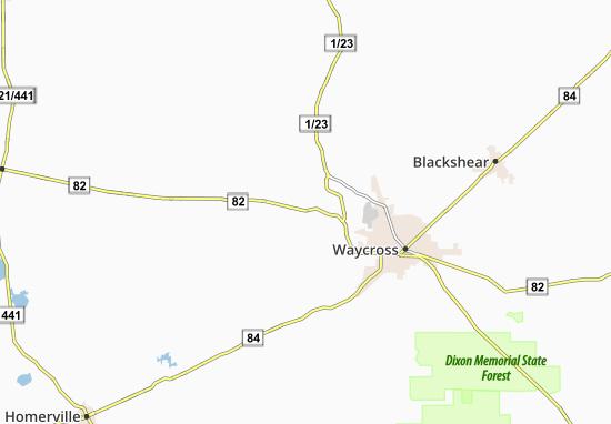 Waresboro Map