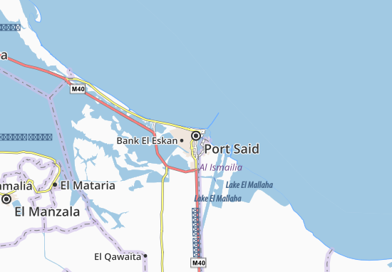 Carte-Plan Port Said