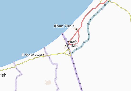 Kaart Plattegrond Rafah