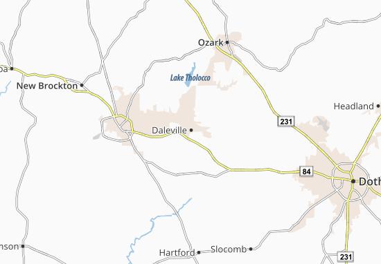 Daleville Map