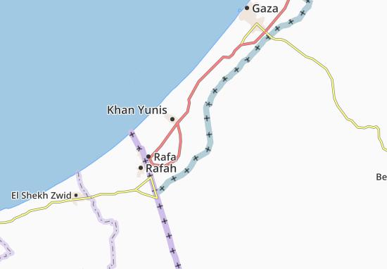 Carte-Plan `Abasan Al Kabirah