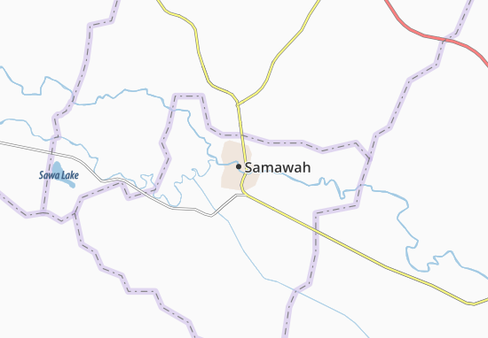 Samawah Map: Detailed maps for the city of Samawah - ViaMichelin