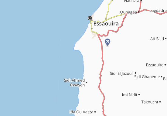 Sidi Kaouki Map