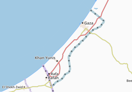 Dayr Al Balah Map