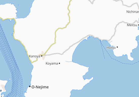 Kaart Plattegrond Karijuku