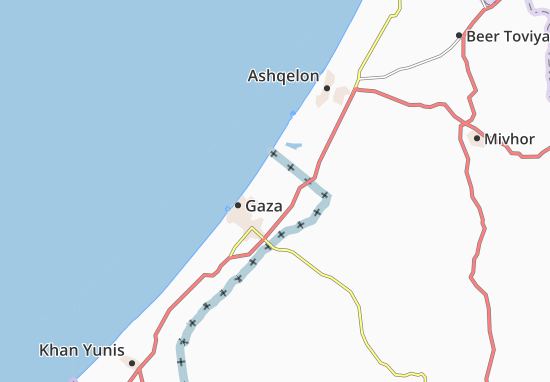 Bayt Lahya Map