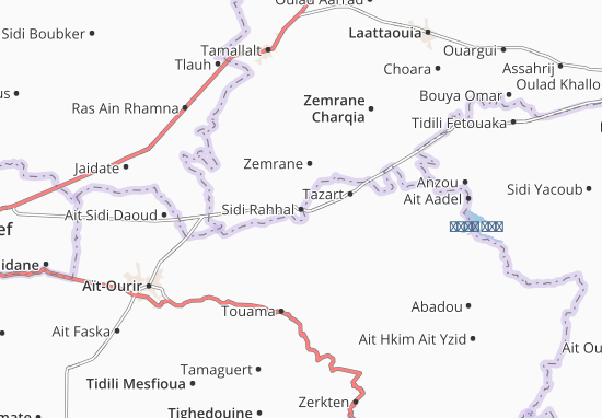 Carte-Plan Sidi Rahhal