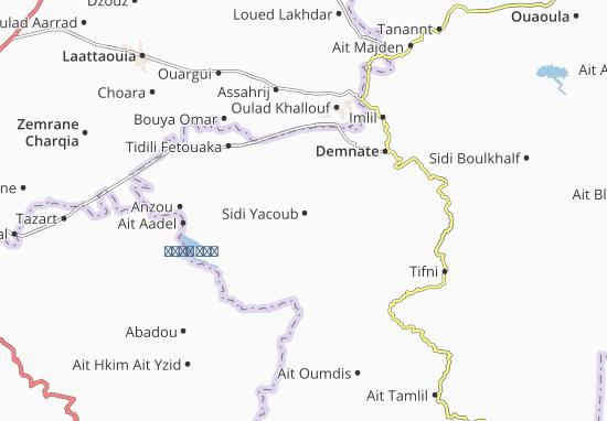 Carte-Plan Sidi Yacoub