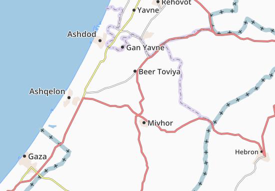 Kaart Plattegrond Nir Banim