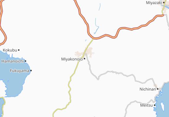 Miyakonojo Map
