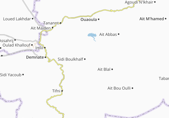 Carte-Plan Sidi Boulkhalf