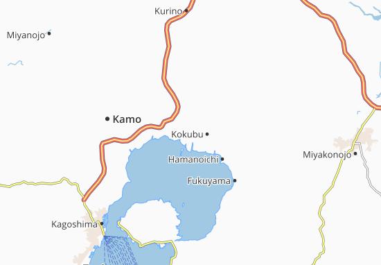 Kaart Plattegrond Uchiyamada