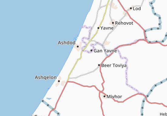 Carte-Plan Sede 'Uziyyahu