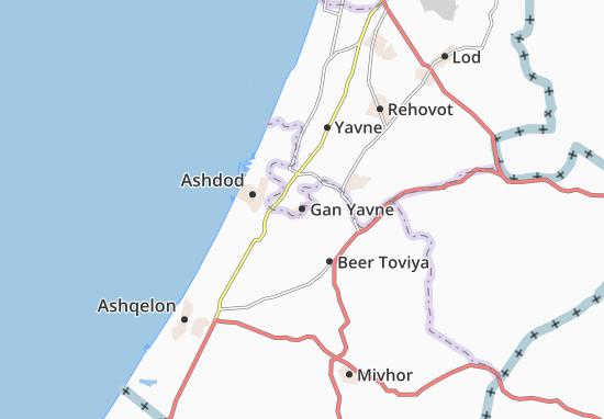 Carte-Plan Gan Yavne