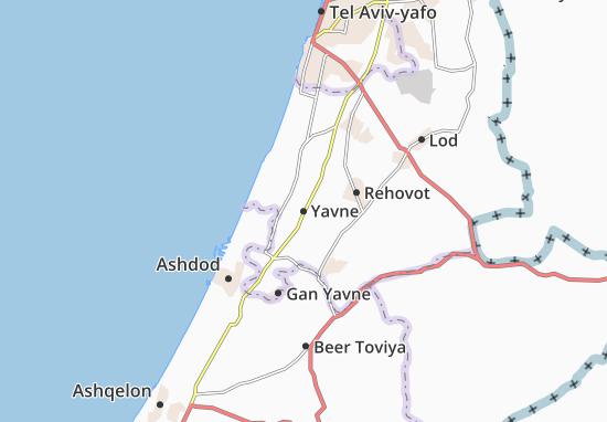 Yavne Map