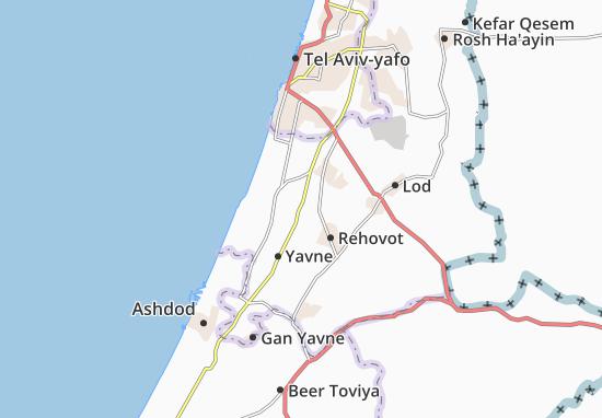 Kaart Plattegrond Bet 'Oved