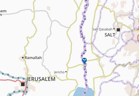 Mapas-Planos Khirbat Al 'Awja' At Tahta