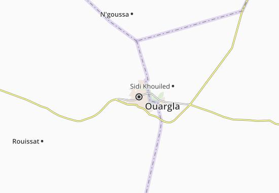 Map Of Ouargla Michelin Ouargla Map ViaMichelin - Ouargla map