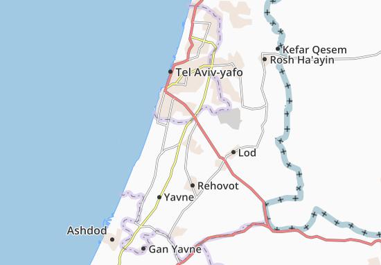 Kaart Plattegrond Nahalat Yehuda