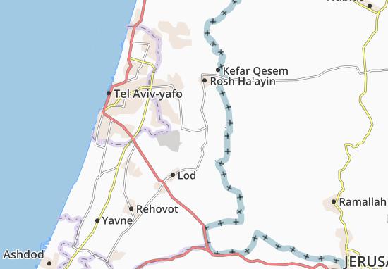 Kaart Plattegrond Tirat Yehuda