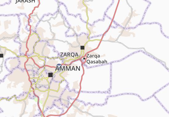 Zarqa Qasabah Map