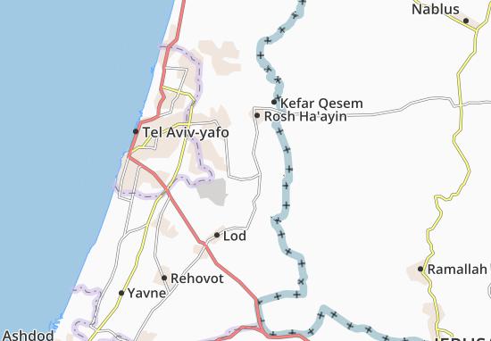 Kaart Plattegrond Giv'At Koah
