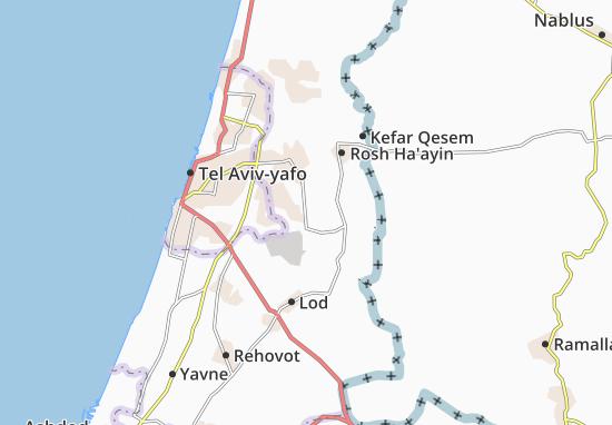 Be'Erot Yizhaq Map