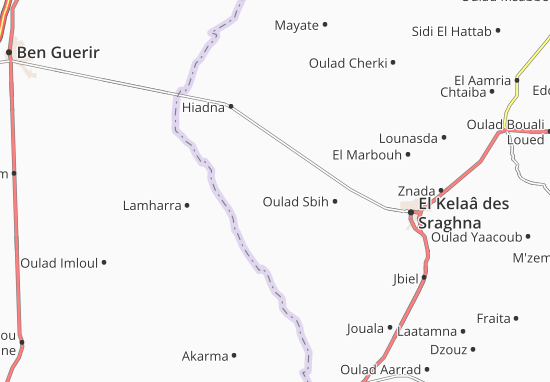 Carte-Plan Oulad Zarrad