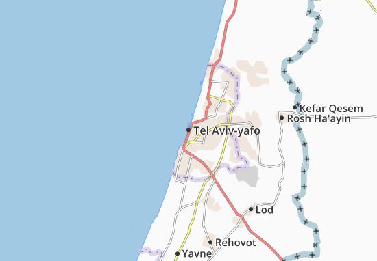 Kaart Plattegrond Tel Aviv-yafo