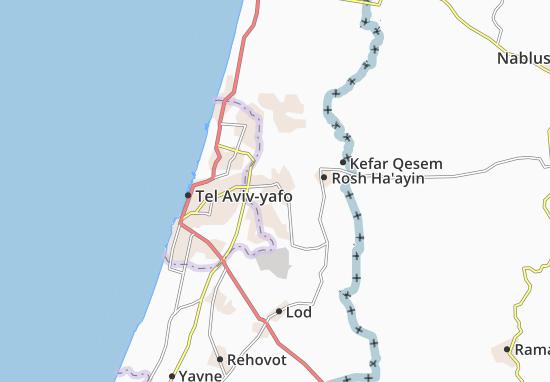 Karte Stadtplan Petah Tiqwa